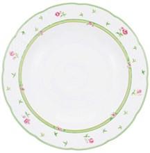 """Набор тарелок глубокая 23 см 6 шт; """"Menuet"""", декор """"Роза, зеленая отводка"""""""