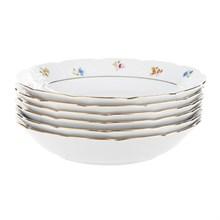"""Набор тарелок COUPSOUP 19 см 6 штук; """"Natalie"""", декор """"Мелкие цветы, отводка золото"""""""