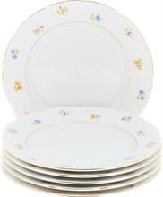 """Набор тарелок десертная 19 см 6 штук; """"Natalie"""", декор """"Мелкие цветы, отводка золото"""""""