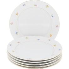 """Набор тарелок десертная 17 см 6 штук; """"Natalie"""", декор """"Мелкие цветы, отводка золото"""""""
