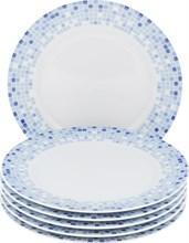 "Набор тарелок десертная 19 см 6 штук; ""Opal"",  декор ""Мозаика"""