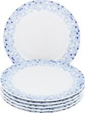 "Набор тарелок мелкая 21 см 6 штук; ""Opal"",  декор ""Мозаика"""