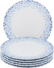 "Набор тарелок мелкая 25 см 6 штук; ""Opal"", декор ""Мозаика"""