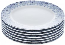 "Набор тарелок десертная 17 см 6 штук; ""Opal"", декор ""Мозаика"""