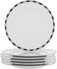 "Набор тарелок десертная ""Opal"" 17 см 6 штук; декор ""Платиновые пластинки""; отводка платина"