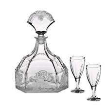 Набор для ликера, 1 штоф 604 мл + 6 стаканов (50 мл) PATRICIEN
