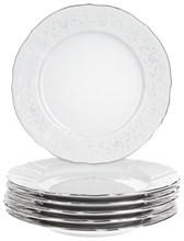 "Набор тарелок десертная 19 см 6 штук; ""Bernadotte"", декор ""Деколь, отводка платина"""