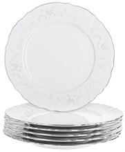 "Набор тарелок мелкая 27 см 6 штук; ""Bernadotte"", декор ""Деколь, отводка платина"""