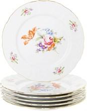 "Набор тарелок мелкая 25 см 6 штук; ""Bernadotte"", декор ""Мейсенский букет"""
