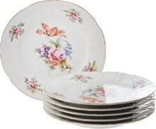 "Набор тарелок десертная 17 см 6 штук; ""Bernadotte"", декор ""Мейсенский букет"""