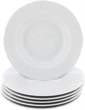 """Набор тарелок глубокая 23 см 6 штук; """"Bernadotte"""",недекорированная"""