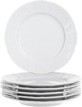 """Набор тарелок десертная 19 см 6 штук; """"Bernadotte"""",недекорированная"""