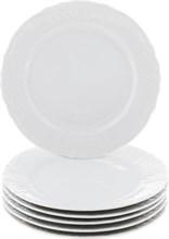 """Набор тарелок мелкая 21 см 6 штук; """"Bernadotte"""",недекорированная"""