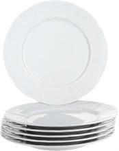 """Набор тарелок мелкая 25 см 6 штук; """"Bernadotte"""",недекорированная"""
