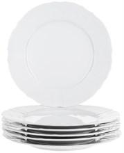 """Набор тарелок мелкая 27 см 6 штук; """"Bernadotte"""",недекорированная"""