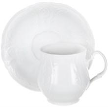 """Набор чашек 6 штук для чая 310 мл с блюдцем 160 мм; """"Bernadotte"""", недекорированная"""
