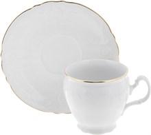 Набор чайных пар 240 мл Bernadotte Отводка золото (6 пар) высокая чашка