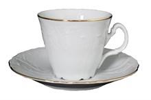 """Набор чашек 180 мл с блюдцем 160 мм высокая коническая 6 штук; """"Bernadotte"""", декор """"Отводка золото"""""""