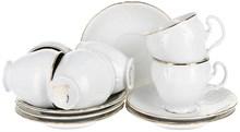 Набор кофейных пар 90 мл Bernadotte Отводка золото (6 пар)
