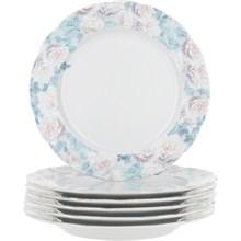 """Набор тарелок мелкая 17 см 6 штук; """"Rose"""", декор """"Голубая роза"""""""