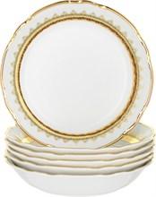 """Набор тарелок COUPSOUP 19 см  6 штук; """"Constance"""", декор """"Зеленая лента"""""""