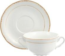 """Чашка 335 мл с блюдцем 170 мм для бульона; """"Constance"""", декор """"Отводка золото"""""""