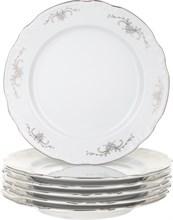 """Набор тарелок десертная 19 см 6 штук; """"Constance"""", декор """"Серый орнамент, отводка платина"""""""