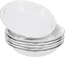 """Набор тарелок COUPSOUP 19 см; """"Constance"""", декор """"Серый орнамент, отводка платина"""""""