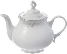 """Чайник 1200 мл; """"Constance"""", декор """"Серый орнамент, отводка платина"""""""