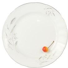 """Блюдо мелкое 30 см; """"Constance"""", декор """"Серебряные колосья, отводка платина"""""""