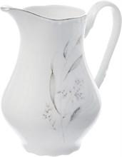 """Молочник высокий 850 мл; """"Constance"""", декор """"Серебряные колосья, отводка платина"""""""