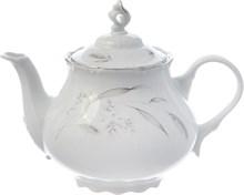 """Чайник 1200 мл; """"Constance"""", декор """"Серебряные колосья, отводка платина"""""""