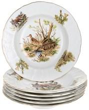 """Набор тарелок глубокая 23 см 6 штук; """"Bernadotte"""", декор """"Охотничьи сюжеты"""""""