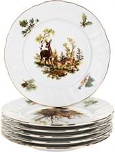 Набор тарелок десертных 17 см Bernadotte Охотничьи сюжеты (6 штук)