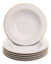 "Набор тарелок глубокая 22 см; ""LOUISE"", декор ""Отводка золото"""