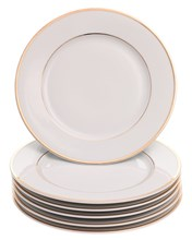 "Набор тарелок десертная 19 см 6 шт; ""LOUISE"", декор ""Отводка золото"""