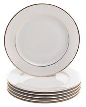 "Набор тарелок мелкая 21 см 6 шт; ""LOUISE"", декор ""Отводка золото"""