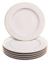 "Набор тарелок мелкая 25 см 6 шт; ""LOUISE"", декор ""Отводка золото"""