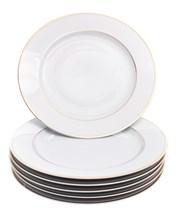 "Набор тарелок мелкая 27 см 6 шт; ""LOUISE"", декор ""Отводка золото"""