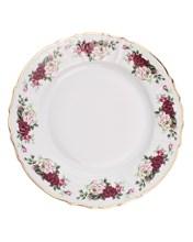 """Блюдо круглое мелкое 32 см; """"Bernadotte"""", декор """"Английская роза, отводка золото"""""""