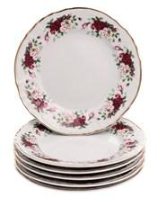 """Набор тарелок десертная 17 см 6 шт; """"Bernadotte"""", декор """"Английская роза, отводка золото"""""""