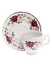 """Набор чашек 6 штук 170 мл с блюдцем 140 мм высокая; """"Bernadotte"""", декор """"Английская роза, отводка золото"""""""