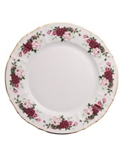 """блюдо круглое мелкое 30 см; """"Bernadotte"""", декор """"Английская роза, отводка золото"""""""