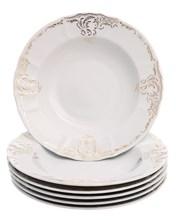 "Набор тарелок глубокая 23 см 6 шт; ""Bernadotte"",  декор ""Золотой орнамент"""