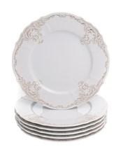 """Набор тарелок мелкая 27 см 6 шт; """"Bernadotte"""",  декор """"Золотой орнамент"""""""