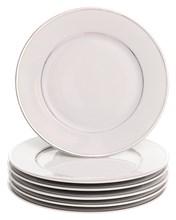 """Набор тарелок десертная 19 см 6 шт; """"LOUISE"""", декор """"Отводка платина"""""""