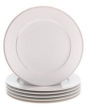 "Набор тарелок мелкая 21 см 6 шт; ""LOUISE"", декор ""Отводка платина"""