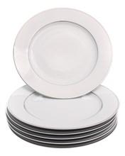 "Набор тарелок мелкая 27 см 6 шт; ""LOUISE"", декор ""Отводка платина"""
