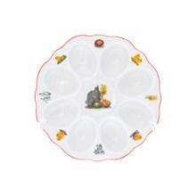 Поднос для яиц Пасхальные мотивы кролик с цыпленком Queen's Crown 15 см