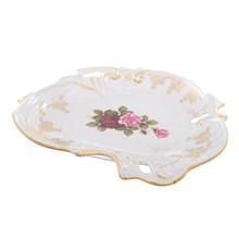 Блюдо ракушка Queen's Crown Роза перламутр 31 см